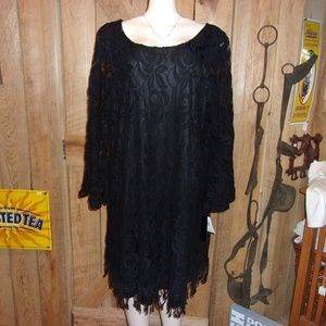 NWT ING 2X Black Dress